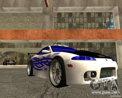 Mitsubishi Eclipse street tuning pour GTA San Andreas vue arrière