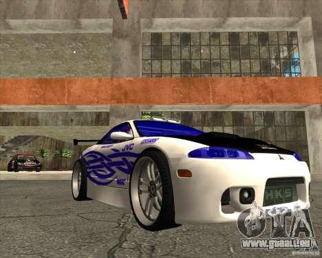 Mitsubishi Eclipse street tuning für GTA San Andreas Rückansicht