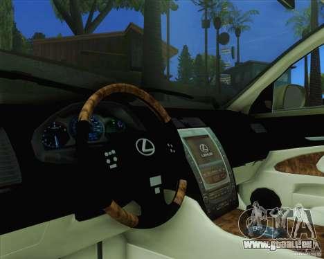 Lexus GS450h 2011 für GTA San Andreas rechten Ansicht