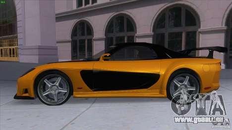 Mazda RX7 Veilside pour GTA San Andreas laissé vue