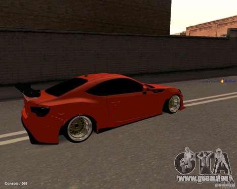 Scion FR13 pour GTA San Andreas sur la vue arrière gauche