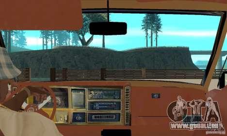 Jeep Grand Cherokee 1986 pour GTA San Andreas vue arrière