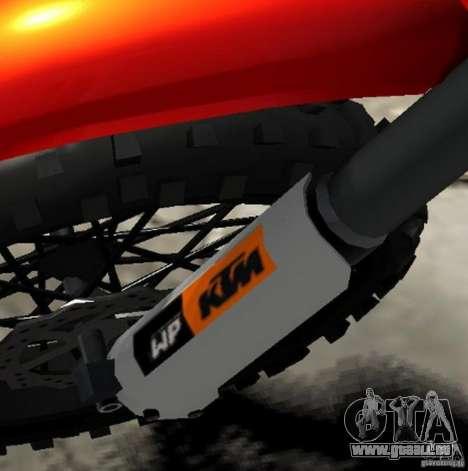 KTM EXC 450 pour GTA 4 vue de dessus
