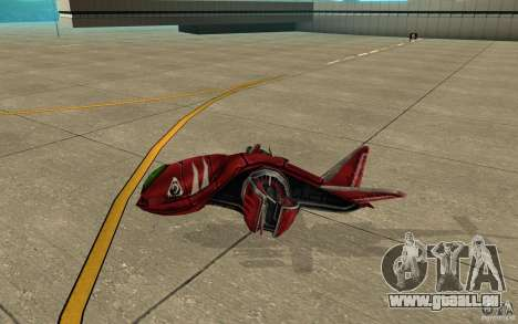 MOSKIT air Command and Conquer 3 für GTA San Andreas zurück linke Ansicht