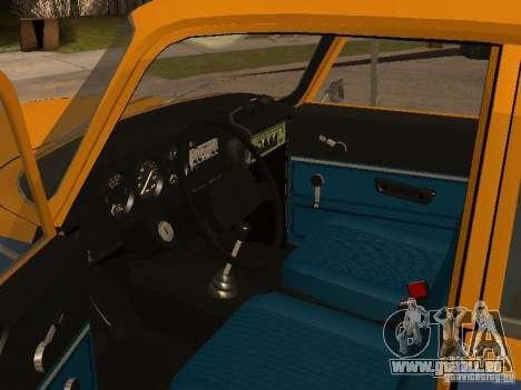 AZLK 2140 Miliz frühe version für GTA San Andreas Rückansicht