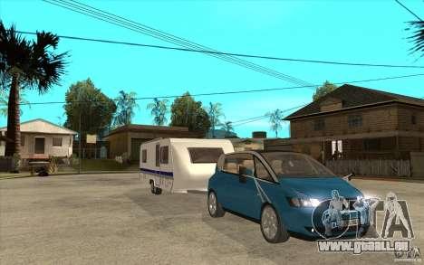 Trailer für den Renault Avantime für GTA San Andreas Rückansicht