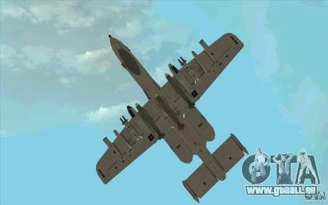 A-10 Warthog für GTA San Andreas Seitenansicht
