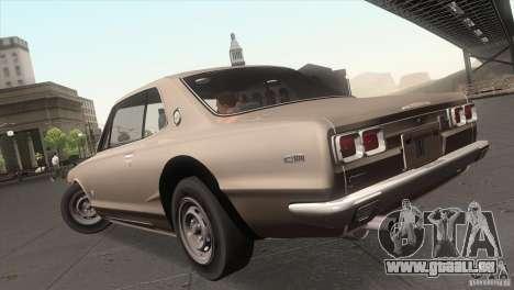 Nissan Skyline 2000 GT-R Coupe pour GTA San Andreas laissé vue