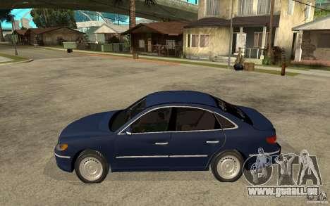 Hyundai Azera 2009 arb drift für GTA San Andreas linke Ansicht