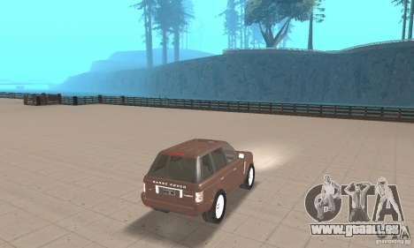 Range Rover Vogue 2004 pour GTA San Andreas laissé vue