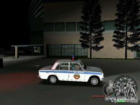VAZ 2101 Police pour une vue GTA Vice City de l'intérieur