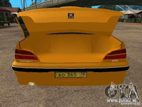Peugeot 406 Taxi pour GTA San Andreas vue arrière