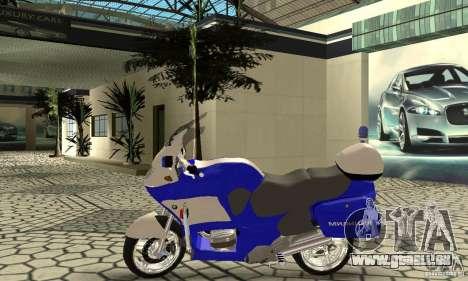 Russische Polizeimotorrad für GTA San Andreas zurück linke Ansicht