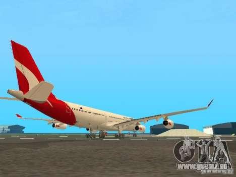 Airbus A340-300 Qantas Airlines für GTA San Andreas Rückansicht