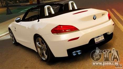 BMW Z4 sDrive 28is 2012 v2.0 pour GTA 4 est une gauche