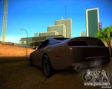 Toyota Supra SHE pour GTA San Andreas sur la vue arrière gauche