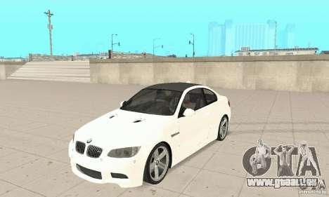 BMW M3 2008 Hamann v1.2 pour GTA San Andreas laissé vue