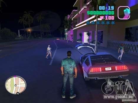 Delorean DMC-12 pour GTA Vice City sur la vue arrière gauche