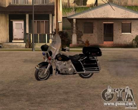 Harley Davidson Police 1997 pour GTA San Andreas laissé vue