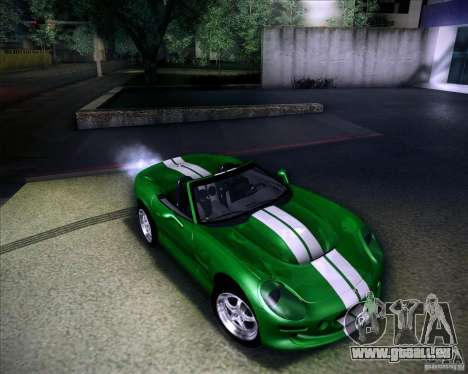 Shelby Series One 1998 pour GTA San Andreas vue de dessous