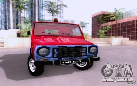 Camion de remorquage LuAZ 13021 pour GTA San Andreas laissé vue