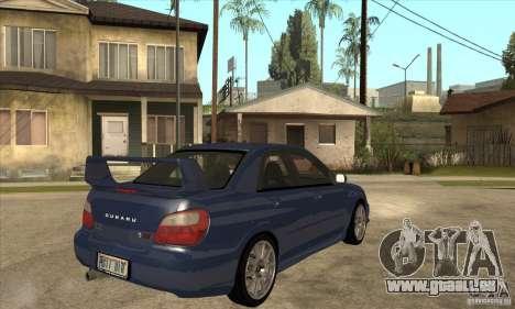 Subaru Impreza WRX STi - Stock für GTA San Andreas rechten Ansicht