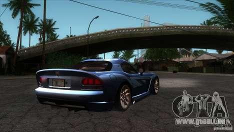 Dodge Viper SRT10 Stock pour GTA San Andreas vue de droite