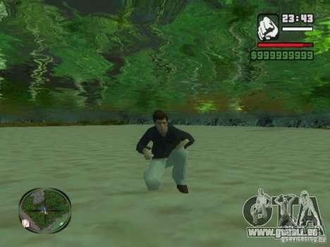 Tony Montana dans une chemise pour GTA San Andreas troisième écran
