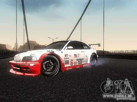 BMW M3 GTR1 pour GTA San Andreas laissé vue