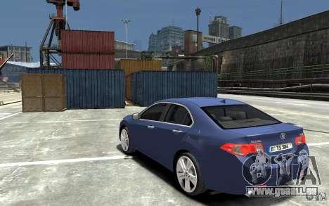 Acura TSX 2011 pour GTA 4 Vue arrière de la gauche