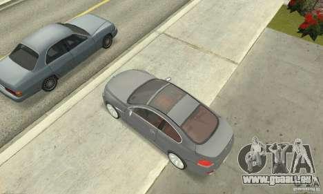 2004 BMW 645ci E63 mit roten Interieur für GTA San Andreas zurück linke Ansicht