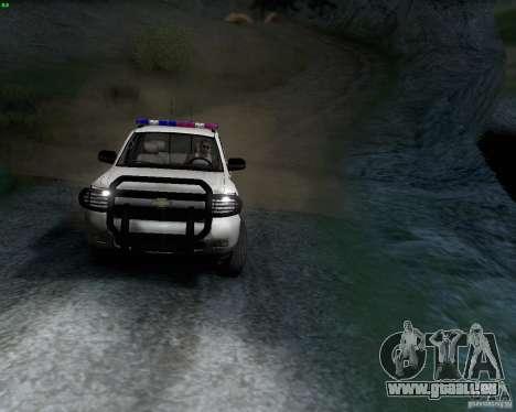 Chevrolet Silverado Police pour GTA San Andreas laissé vue