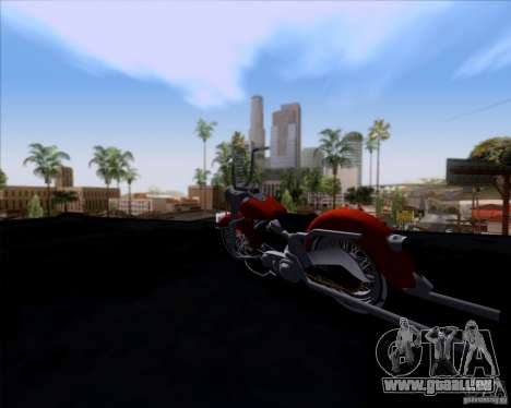 Harley-Davidson FL Duo Glide 1961 (Lowrider) pour GTA San Andreas vue arrière