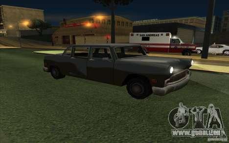 Civilian Cabbie für GTA San Andreas Rückansicht