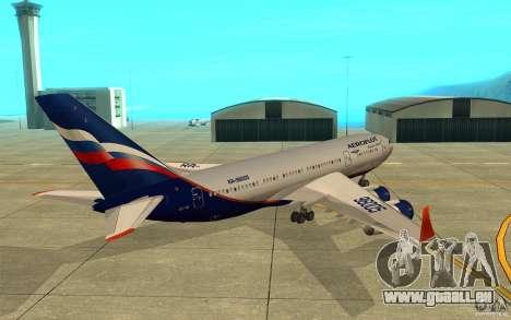 L'IL-96 300 Aeroflot dans de nouvelles couleurs pour GTA San Andreas vue de droite