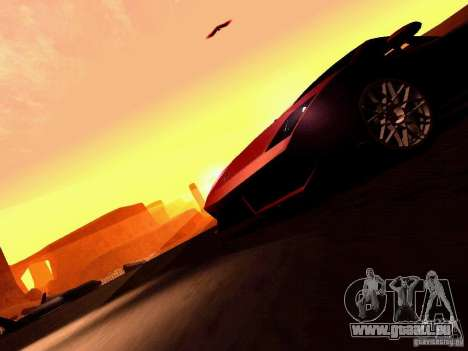 Lamborghini Gallardo LP560-4 für GTA San Andreas Innen