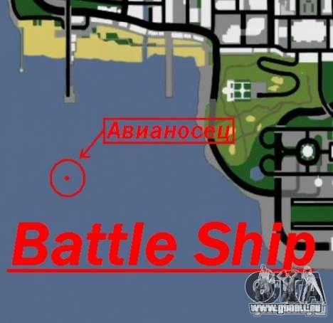 Battle Ship pour GTA San Andreas cinquième écran