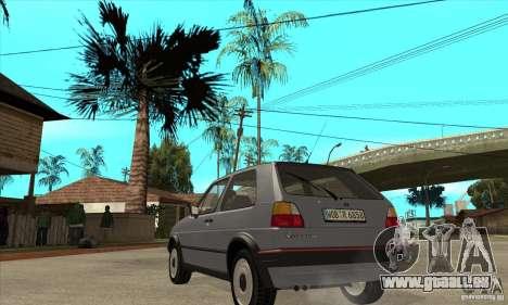 Volkswagen Golf 2 GTI 1984 pour GTA San Andreas sur la vue arrière gauche