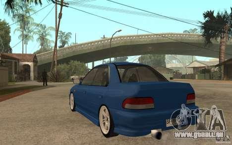 Subaru Impreza GC8 JDM SPEC pour GTA San Andreas sur la vue arrière gauche
