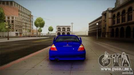 Mitsubishi Lancer Evolution lX pour GTA San Andreas vue de droite