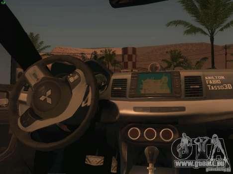 Mitsubishi  Lancer Evo X BMS Edition pour GTA San Andreas vue de dessous