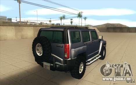 Hummer H3 pour GTA San Andreas sur la vue arrière gauche