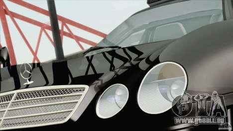 Mercedes-Benz CLK GTR Race Road Version Stock für GTA San Andreas zurück linke Ansicht