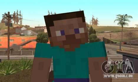 Steve de la peau de Minecraft jeu pour GTA San Andreas cinquième écran