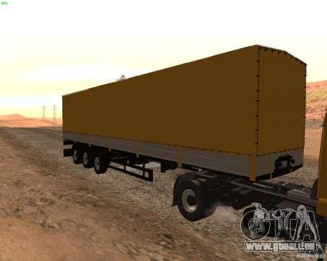 Remorque Nefaz de Truckers 2 pour GTA San Andreas sur la vue arrière gauche