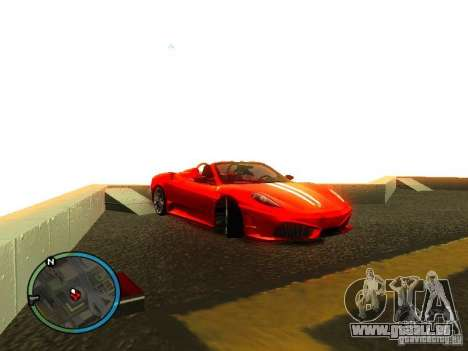 Ferrari F430 Scuderia M16 2008 pour GTA San Andreas salon