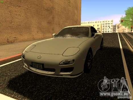Mazda RX-7 pour GTA San Andreas vue de dessus