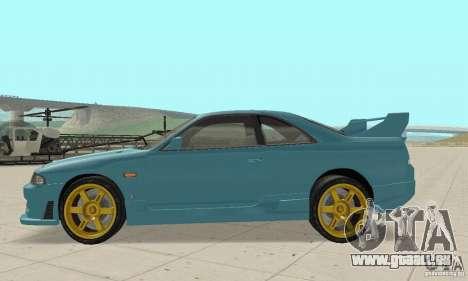 Nissan Skyline R33 Tuning pour GTA San Andreas laissé vue