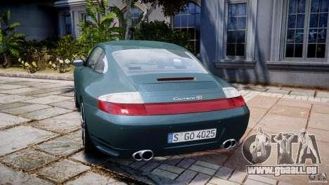 Porsche 911 (996) Carrera 4S pour GTA 4 Vue arrière de la gauche
