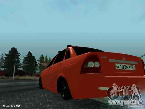 LADA 2170 102-RUS pour GTA San Andreas sur la vue arrière gauche